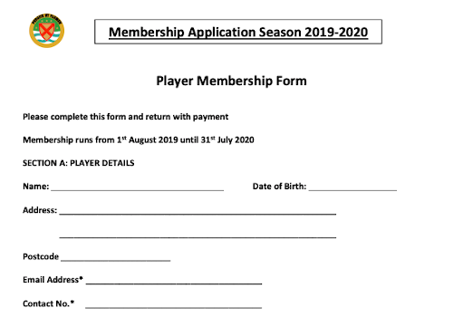Player Membership Form
