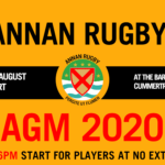 6th August – Annan Rugby 2020 AGM