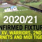 2020/21 Confirmed Fixtures