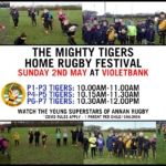 2ND MAY: TIGERS HOME RUGBY FESTIVAL